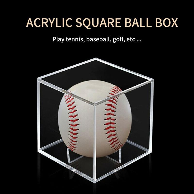 Acrylic 80mm Baseball Box 2020 New Hot Sale Golf Ball Transparent Case Display Dustproof Souvenir Storage Box Protection Holder 1