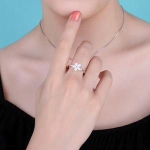 Image 3 - Jewelrypalace Elegante Daisy Weiß Emaille 925 Sterling Silber Ring Frühling Blumen Jahrestag Geschenk Frauen Mode Schmuck Neue