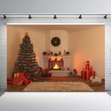 Photo Background Christmas Tree Fireplace Backdrop Gifts Toy Indoor Children Backgrounds for Photo Studio kate 200x300cm 6 5x10ft winter photo background photography backdrop children christmas tree backgrounds for photo studio