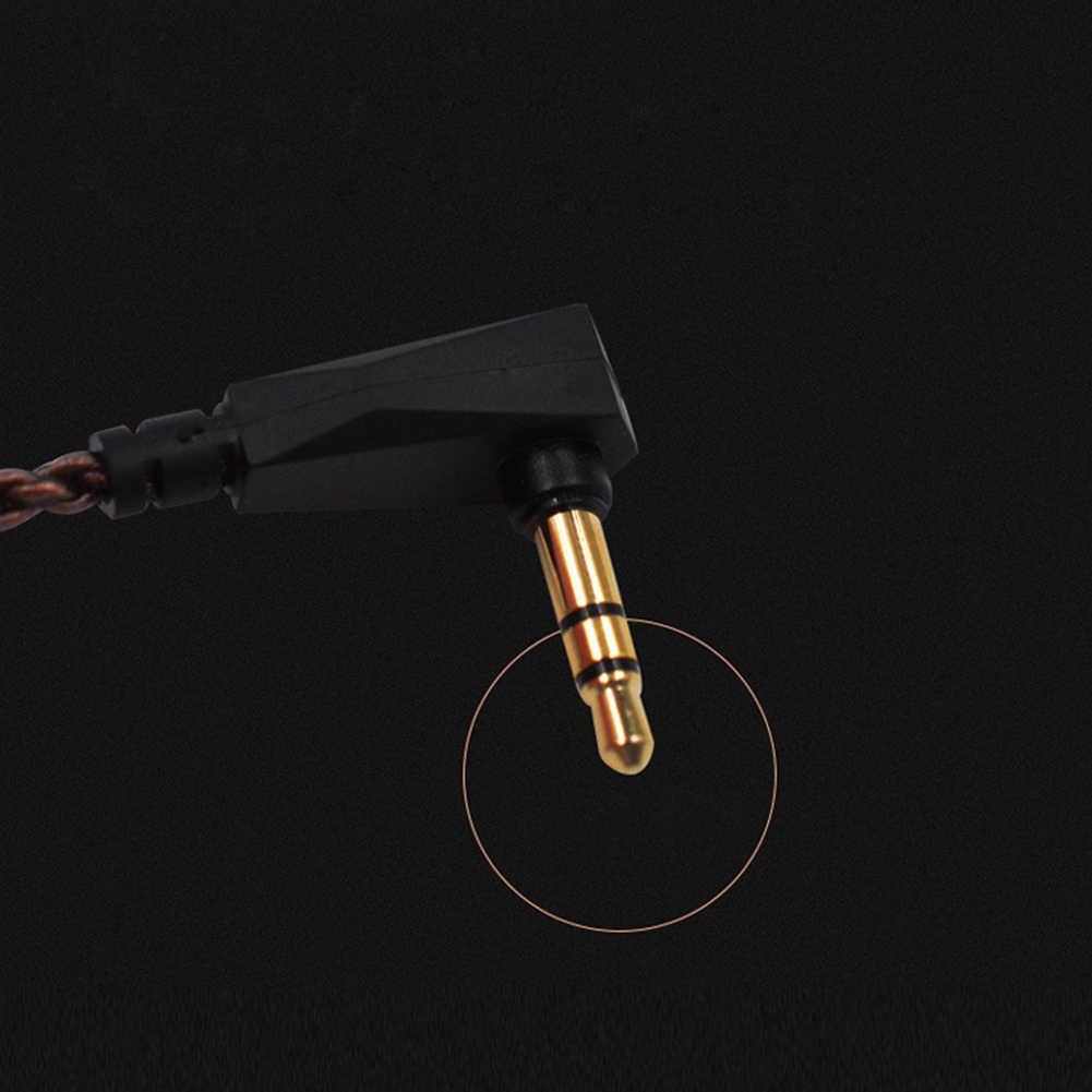 יציב מצופה אוזניות כבל עמיד 0.75mm 2 פין שדרוג נחושת ייעודי קול חוט אודיו אביזרי מעשי עבור KZ ZS5 6