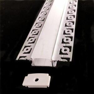 Image 5 - 5 30 قطعة/الوحدة 2 متر 80 بوصة led الخطي striip الإسكان الجص مجلس جزءا لا يتجزأ من led الألومنيوم الشخصي ، صف مزدوج 20 مللي متر الشريط ضوء قناة