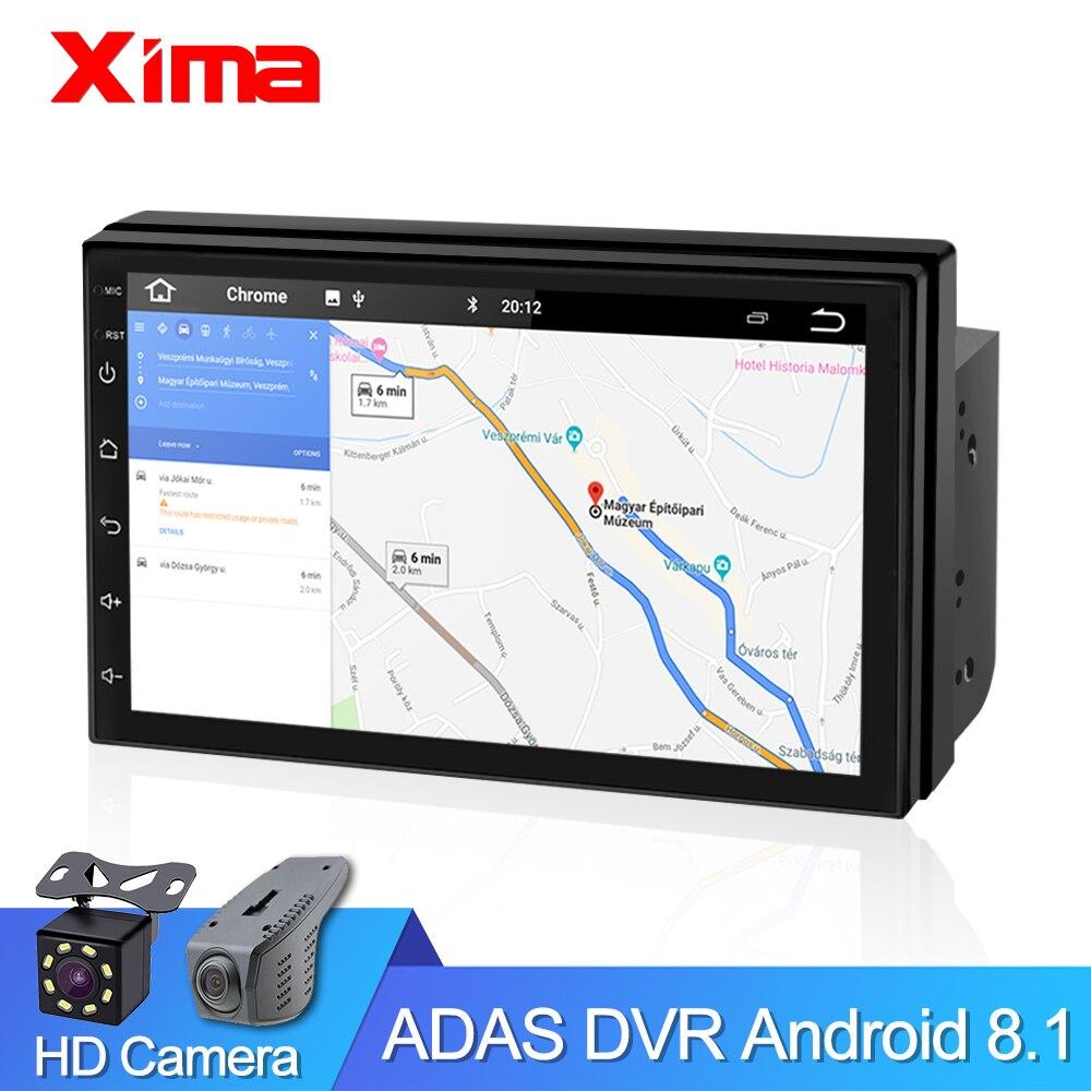 Android 8.1 2 Din 7 pouces ROM32G universel autoradio Navigation GPS lecteur Dvd multimédia pour Toyota Nissan Kia VW Hyunda Ford