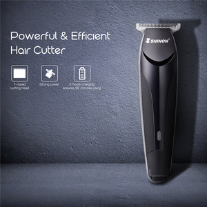 Image 3 - Cordless Men Micro Hair Trimmer Home Barber Razor Bald Head Shaving Machine Personal Care Tool with Wide T blade Limit Combs