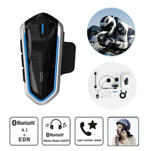 New QTB35 Waterproof Motorcycle Helmet Bluetooth Headset Wireless Handsfree Moto Music helmets Call FM MP3 For Rider