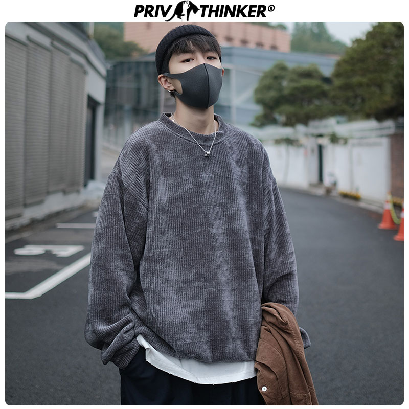 Privathinker Autumn New 2019 Woman's O-Neck Loose Sweatshirts Girls Korean Casual Pullovers Female Fashion Streetwear Clothes