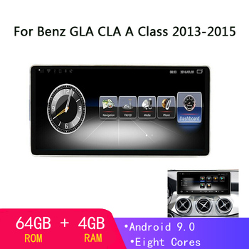 10.25 inch Android 9.0 GPS Navigation For Mercedes Benz GLA CLA A Class X156 2013-2015 multimedia player auto Stereo Navi 4+64GB