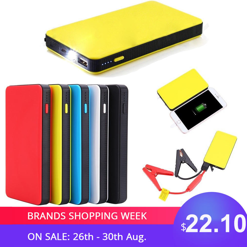 Booster Car Starter-Charger Battery Power-Bank Engine 20000mah-Car Portable Mini Slim