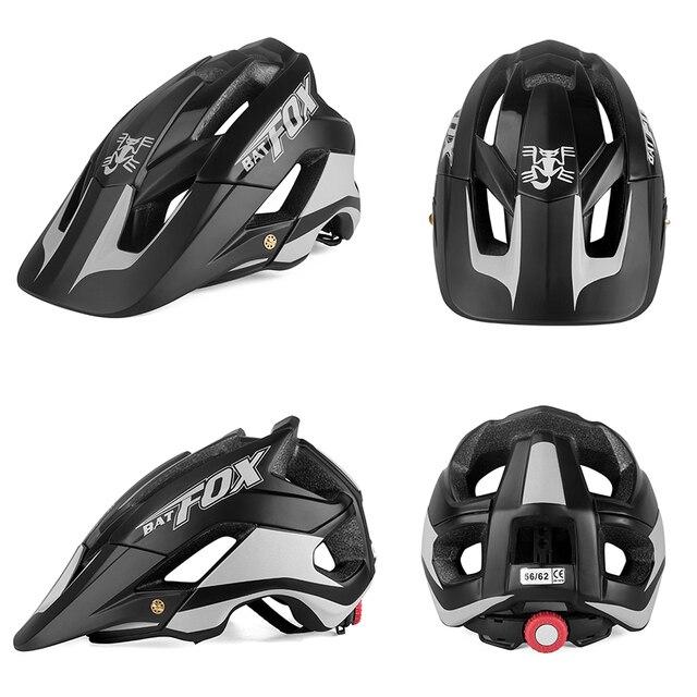 Batfox bicicleta das mulheres dos homens capacete de bicicleta ultra-leve estrada capacete de alta qualidade moldagem geral mtb ciclismo capacete casco 2