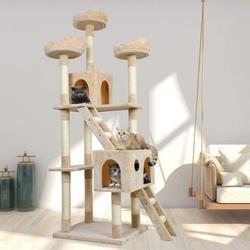 القط الصفر المشاركات شجرة لخربشة القطط برج هريرة الخدش المشاركات السيزال حبل الحيوانات الأليفة لعبة C05