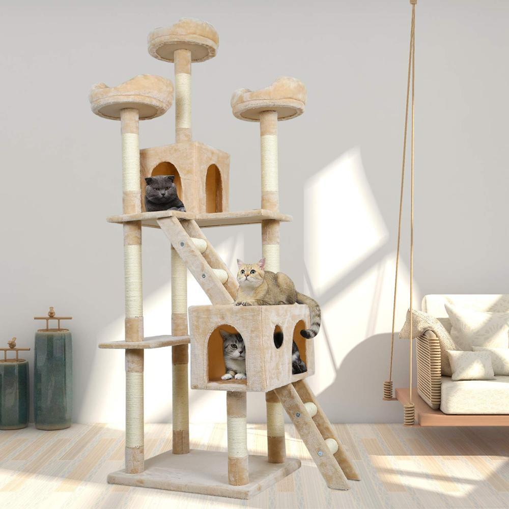 Chat à gratter poteaux chat à gratter arbre tour chaton à gratter poteaux Sisal corde pour animaux de compagnie jouet C05