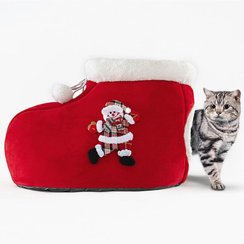 Christmas Boot Cat Dog Pet House