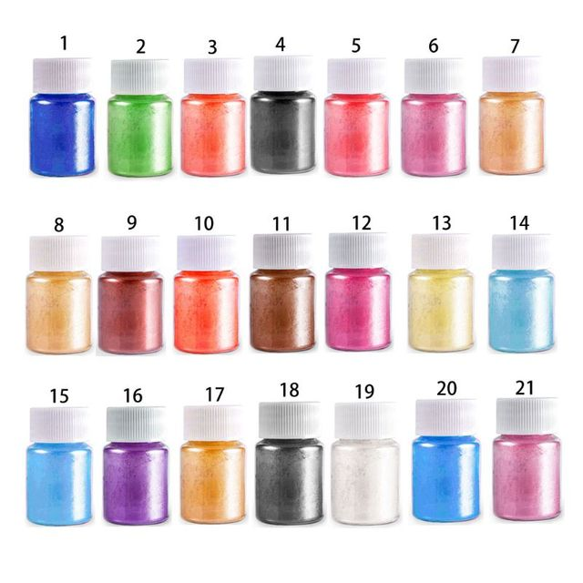 21 Colors Aurora Resin Mica Pearlescent Pigments Colorants Epoxy Resin Mold Jewelry Making jewelry Tools 5