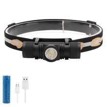 BORUiT светодиодный налобный фонарь вспышка светильник USB Перезаряжаемый головной светильник портативный водонепроницаемый походный охотничий Головной фонарь светильник 18650
