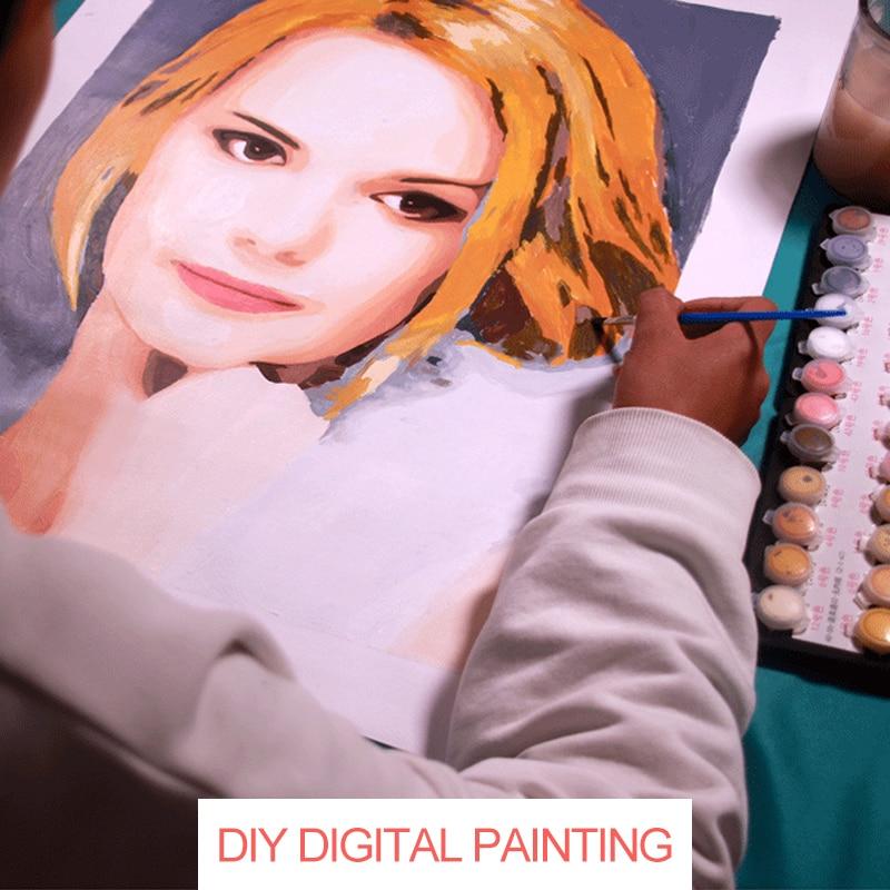 Набор для рисования по номерам на холсте Раскраска портрета