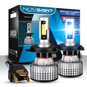 NOVSIGHT H7 H4 светодиодный светильник для автомобиля s H1 H3 H11 HB3 HB4 HB5 9005 9006 12 в автомобильный светильник для вождения 6500 к автомобильный светильник,...