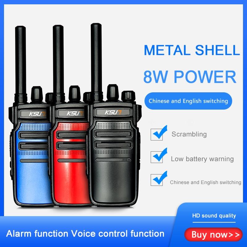 KSUN KSX18 Walkie-talkie Outdoor Mini Walkie-talkie 50 Civilian Kilometers 8W High Power Encryption Intercom Small Machine Small