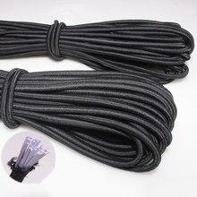 1/2/3/4/5/6MM beyaz/siyah güçlü elastik halat lastik bant dikiş konfeksiyon zanaat malzemeleri elastik bant DIY dikiş aksesuarları
