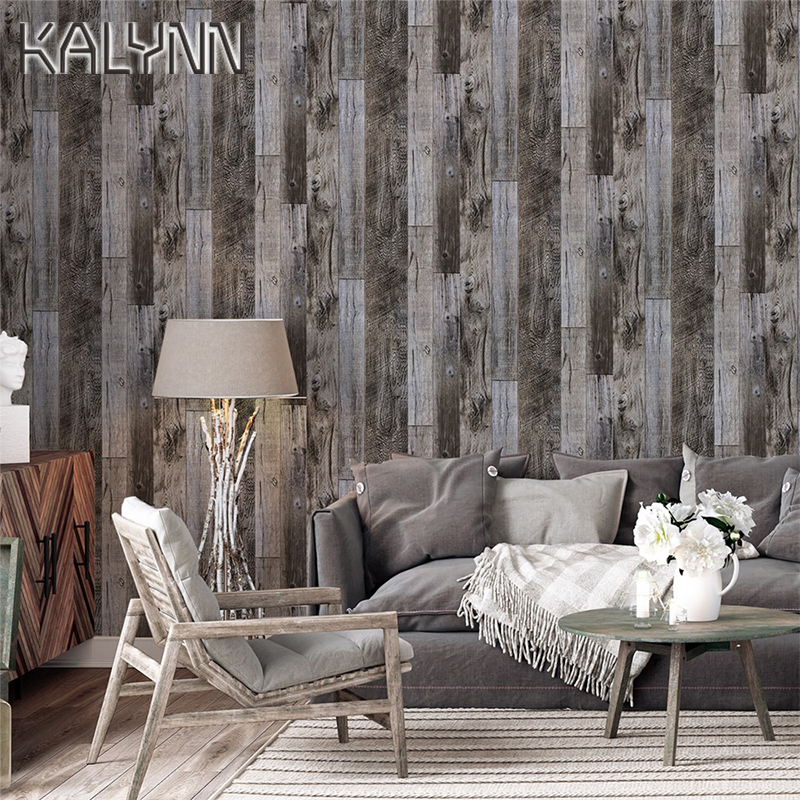 Brown Wood Self Adhesive Wallpaper Home Kitchen Bedroom Living Room Decoration Contact Paper Mural 6m*45cm DIY Wall Stickers