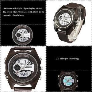 Image 3 - Shifenmei antigo natural digital men relógios led display gravado de madeira luminosa mão meninos relógios marca masculino feminino