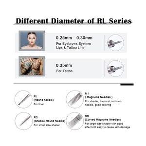 Image 4 - Картридж Biomaser одноразовый для тату игл, машинка для нанесения татуировок, 1/3/5/9/11/13/15RL, линейка для растушевки бровей, тату машинка, 10 шт.