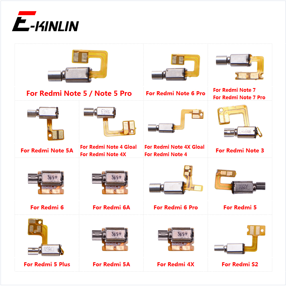 Vibrator Module Motor Vibration Ribbon Flex Cable For XiaoMi Redmi Note 7 6 5 S2 5A 4 4X 3 Pro Plus Global
