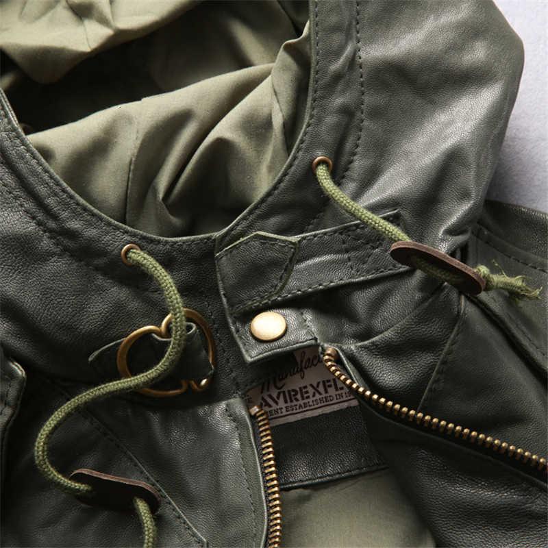 Lunga da uomo Con Cappuccio Giacca In Vera Pelle Giacca di Volo di Marca Morbida Pelle di Vitello Vintage Europei Americani Cappotto di Pelle di Trasporto