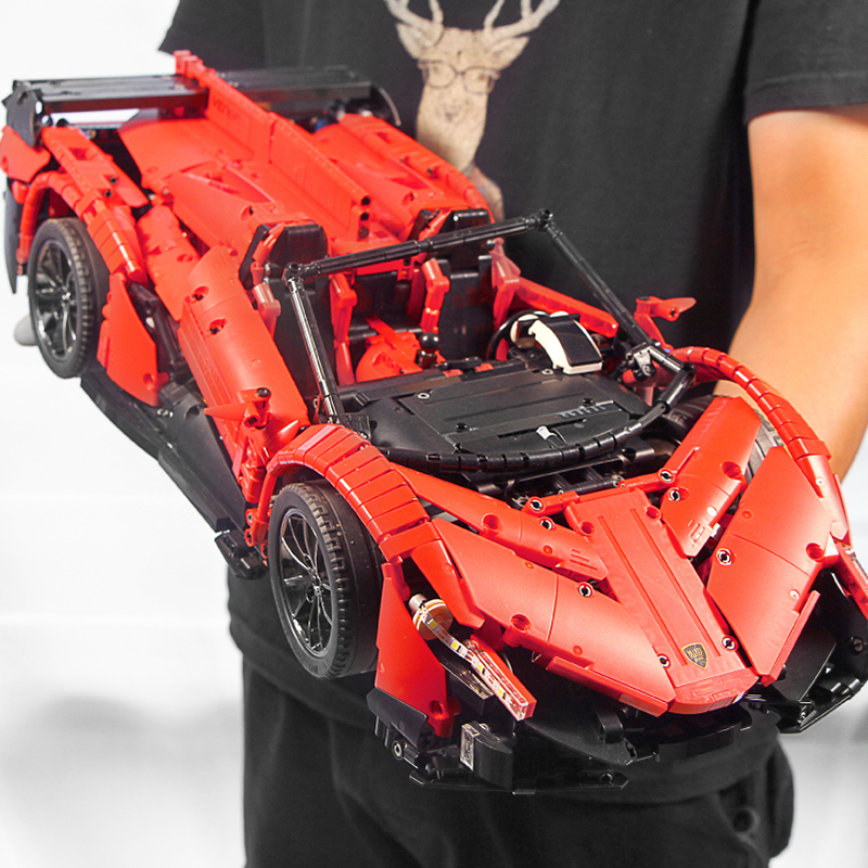 RC Car The Veneno Lamborghinis Roadster Power Function Car Building Blocks Bricks Kids Toys Compatible with Lepins Technic 20091 image