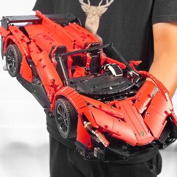 RC Car The Veneno Lamborghinis Roadster Power Function Car Building Blocks Bricks Kids Toys Compatible with Lepins Technic 20091