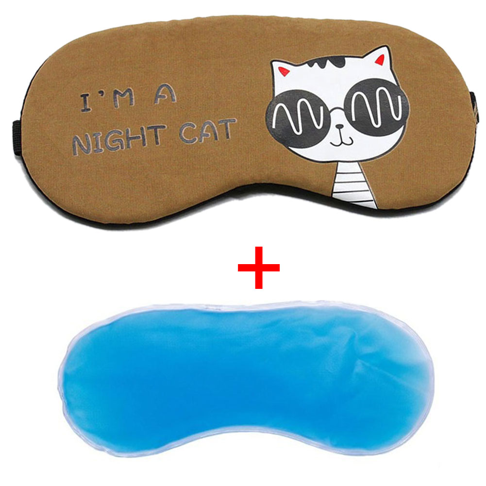 Eyepatch Shade Sleeping Aid Comfort Cover School Office Home Cold Relaxing Eye Mask Ice Gel Travel Blindfolds Gifts Cartoon