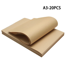 Wrapping-Paper Kraft-Paper-Gift-Box Flower Hand-Painted Graffiti Diy Brown A3-Size 20pcs