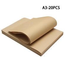 20 шт А3 Размер коричневая крафт бумага подарочная коробка и