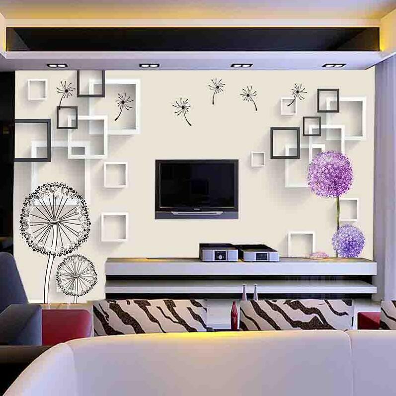 Minimalist Modern Film And Television Wall 3D Wallpaper Sofa Living Room Seamless Mural Television Wallpaper 5D Stereo 8D Wall C