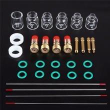 30 шт./лот практические TIG сварочный комплект фонарь короткие Tig газовой стекло для линзы чашка Вольфрам иглы для WP17/18/26 Mayitr аксессуары для сва...