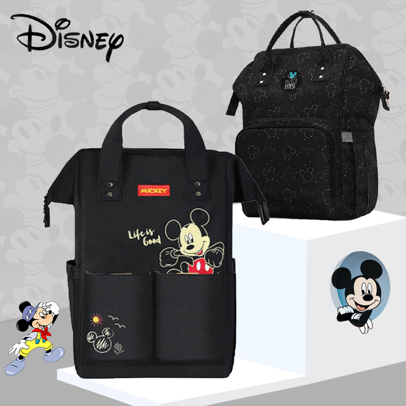 Disney Mickey Minnine Dumbo USB Diaper Bag Backpack Baby/Maternity Bag For Baby Care Nappy Bag Large Capacity Handbag Cartoon
