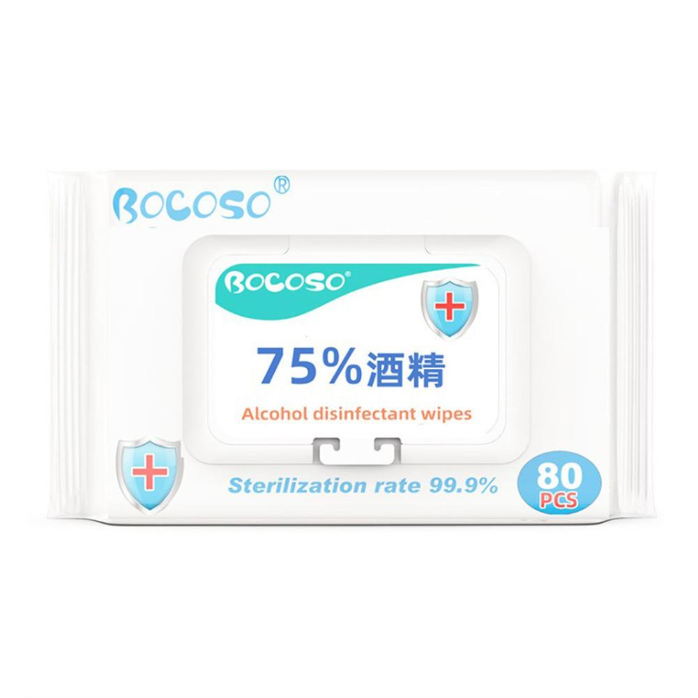 80 Piece/Bag Disinfecting Alcohol Wipes Disposable Hand Wipes Skin Toys Cleaning Bacteria Disinfection Wipes Cotton Pieces