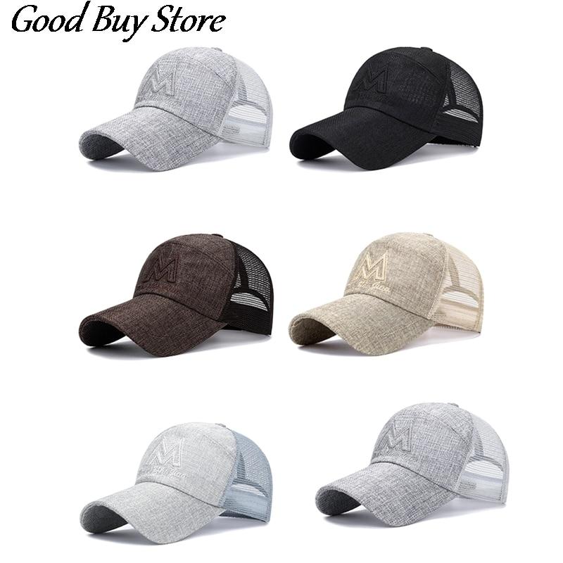 Summer Tennis Golf Caps Breathable Mesh Sport Hat Baseball Cap Riding Fishing Visors Women Men UV Protection Fashion Panama