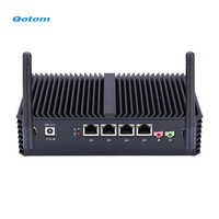 Qotom Core i3 i5 i7 Mini PC AES-NI 4x Gigabit Intel LAN Windows Linux pfsense Untangle OPNsense Wireless Fanless PC
