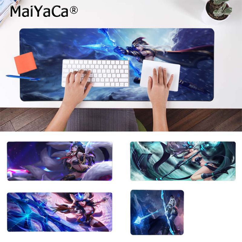 MaiYaCa Custom Skin Ashe League Of Legends LOL Computer Gaming Mousemats Gamer Speed Mice Retail Small Rubber Mousepad image