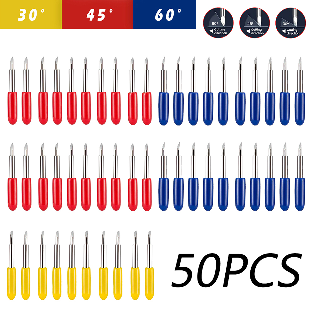 30/45/60 Degrees Replacement Blades For Roland Cricut Plotter Blade Knife Cutter Blades For Power Tools Cutting Plotter