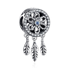 StrollGirl New arrival 925 sterling silver Dreamcatcher charms beads fit authentic Pandora bracelet diy fashion jewelry