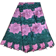embroidered french mesh lace fabric 2019 nigerian high quality african sewing materials for dress