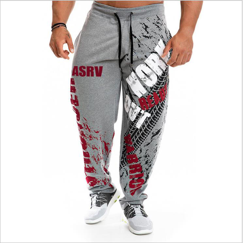 New Running Jogging Pants Men Cotton Soft Bodybuilding Joggers Sweatpants Harem Long Trousers  Fitness Sport Training Pants 4