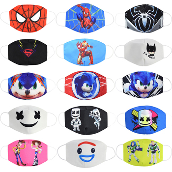 2020 Breathable Protective Face Masks Men Women Kids Unisex Soft Cartoon Anti Dust Motorcycle Mask ZXT211