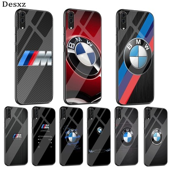 Cool bmw New case Glass phone Case For Huawei Honor 7A Pro Honor 8X Honor 9 Lite Honor 10 Lite Cover image