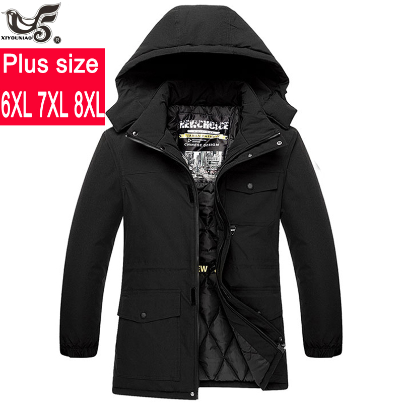 Plus Size 6XL 7XL 8XL Winter Jacket Men Warm Thicken Windbreaker Waterproof Coats Outwear Cotton-capped Down Parka Men Clothing
