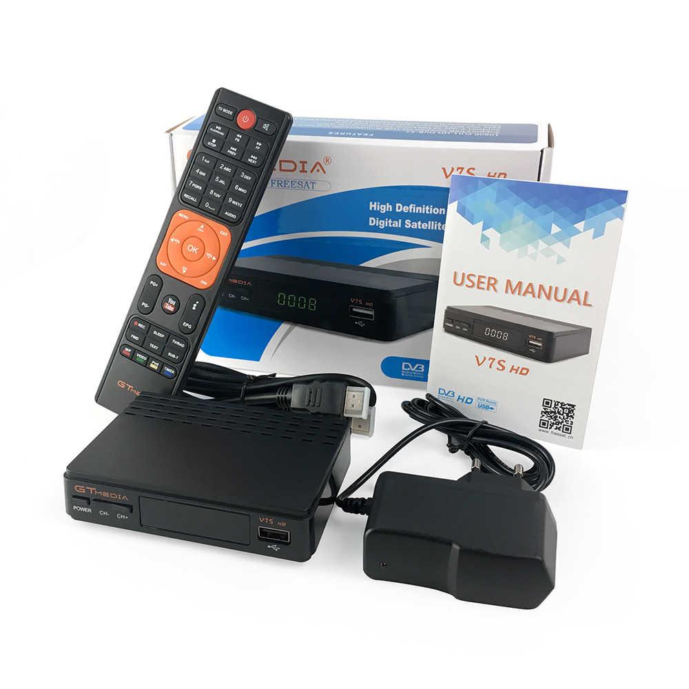 DVB-S2 chaude GTMedia V7S HD récepteur Satellite ale 1080p Super décodeur pour l'espagne récepteur de boîte de télévision Youtube GT Media Freesat V7