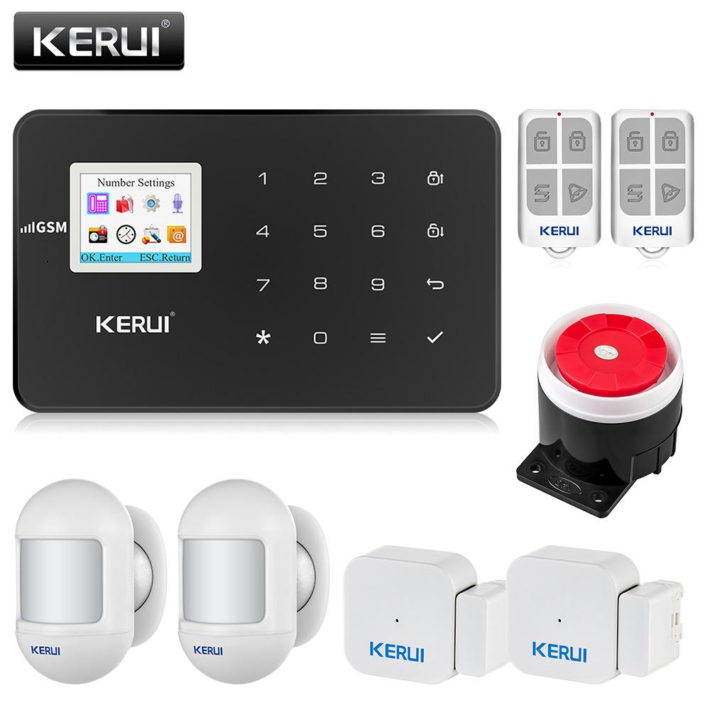 KERUI G18 GSM Alarm System Security  APP Wireless Home Burglar Alarm Fire Protection Motion Sensor Security Alarm DIY Kit