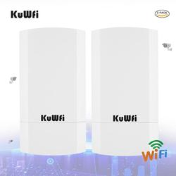 KuWFi Router CPE 5.8G Wireless Router 900Mbps Wifi Repeater Outdoor Wireless Brigde reach 1-3KM For Ip-Cam Outdoor Wifi