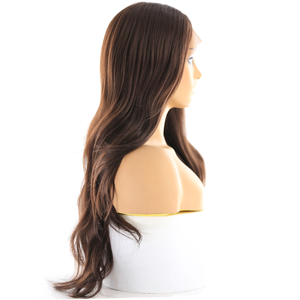 Image 4 - Medium Brown Synthetic Hair Lace Wigs For Women X TRESS Blonde 613 Long Wavy Lace Front Wigs With Natural Hairline Middle Part-in Synthetic Lace Wigs from Hair Extensions & Wigs