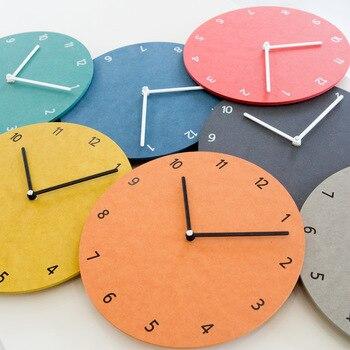 Silent Round Wall Clock Living Room Modern Minimalist Clock Digital Home Bedroom Stylish Wall Clocks Home Decor 6W239